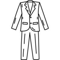 ícone de smoking. doddle desenhado à mão ou estilo de ícone de contorno preto. ícone do vetor