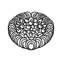 ícone de bolo pavlova. doodle desenhado à mão ou estilo de contorno
