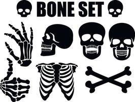estêncil cravejado de ossos