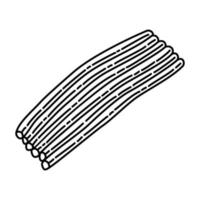 ícone picado de cebolinhas. doodle desenhado à mão ou estilo de contorno vetor