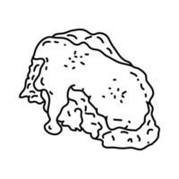 ícone de bife de frango frito. doodle desenhado à mão ou estilo de contorno
