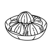 ícone de madame. doodle desenhado à mão ou estilo de contorno vetor