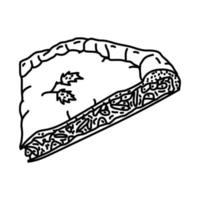 ícone flamiche. doodle desenhado à mão ou estilo de contorno vetor
