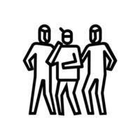 ícone de coleta do paciente. símbolo de atividade ou ilustração para lidar com o vírus corona vetor