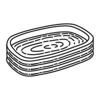 ícone de piscina. doodle desenhado à mão ou estilo de contorno vetor