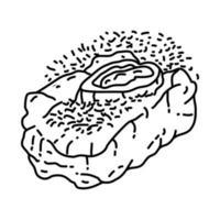 ícone de ossobuco. doodle desenhado à mão ou estilo de contorno vetor