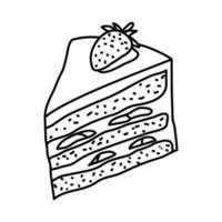 ícone do shoto keki. doodle desenhado à mão ou estilo de contorno