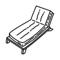 ícone de praia com solário. doodle desenhado à mão ou estilo de contorno vetor