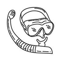 mergulho como ícone. doodle desenhado à mão ou estilo de contorno vetor