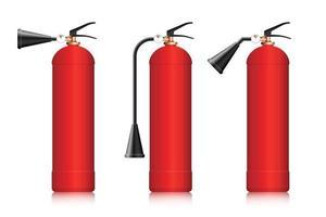 ilustração vetorial de extintores de incêndio isolada no branco vetor