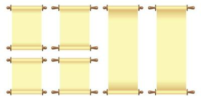 ilustração vetorial de rolo de papel em branco isolada no branco vetor