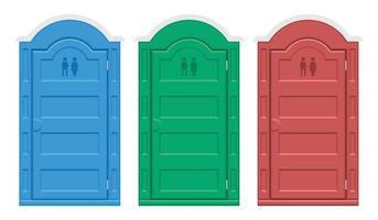 ilustração vetorial conjunto de banheiro bio ao ar livre vetor