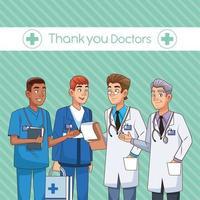 vetor de personagens médico profissional