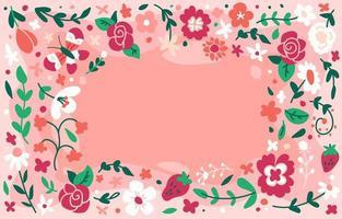 fundo floral colorido para dar as boas-vindas à primavera vetor