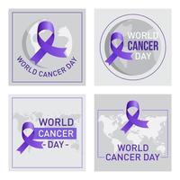 dia mundial do câncer definido vetor