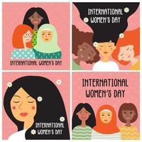 cartão do dia internacional da mulher vetor