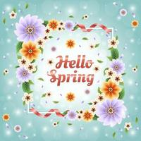 colorido e lindo conceito floral primavera vetor