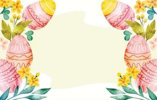 fundo de ovos de páscoa em aquarela vetor