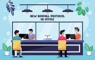 novo protocolo normal de pandemia no escritório vetor