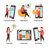 múltiplas maneiras de usar a tecnologia para prevenção secreta vetor