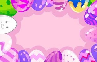 fundo de ovo de páscoa com cor pastel vetor