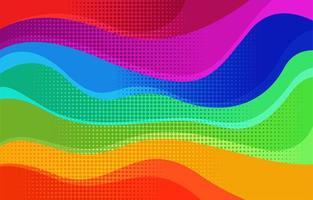 fundo ondulado arco-íris abstrato vetor