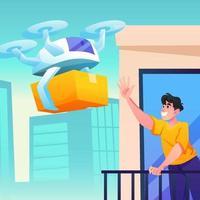 serviço de entrega de drones vetor