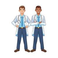 personagens de médicos profissionais vetor