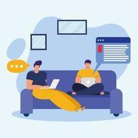 jovens estudantes masculinos para o conceito de educação online