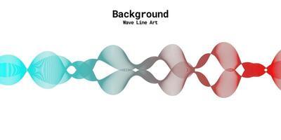 fundo abstrato moderno com linhas onduladas em gradações de vermelho e azul vetor