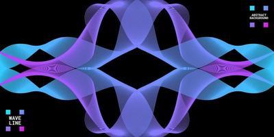 abstrato moderno com linhas onduladas coloridas. vetor