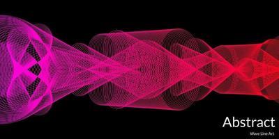 fundo abstrato moderno com linhas onduladas coloridas vetor