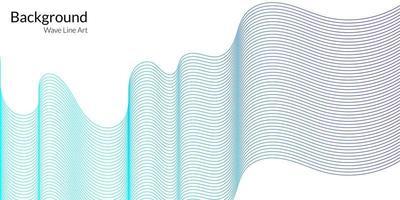fundo abstrato moderno com linhas onduladas em gradações de azul vetor