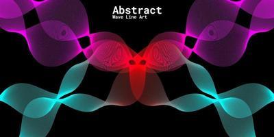 fundo abstrato moderno com linhas onduladas em gradações de roxo, vermelho e azul vetor