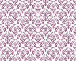 ilustração de padrão vintage sem emenda do damasco. horizontal e verticalmente repetível. vetor