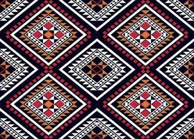 padrão étnico geométrico design tradicional vetor