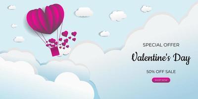 projeto de conceito de fundo. coração de balão voando