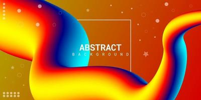 fundo 3d líquido abstrato moderno com gradiente colorido vetor