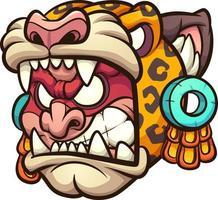guerreiro jaguar asteca vetor