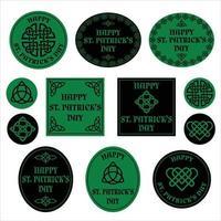 gráficos celtas do dia de São Patrício vetor