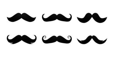 conjunto de vetores de design de coleção de bigode