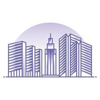 ilustração do conceito de imóveis e edifícios vetor