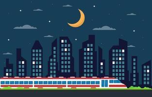 ferrovia lado da ferrovia transporte público suburbano metrô trem ilustração da paisagem vetor