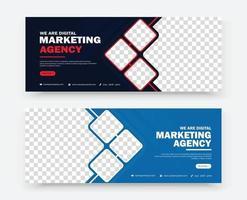 modelo de design de banner de marketing empresarial vetor