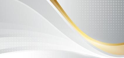 modelo abstrato ondas de fundo cinza e dourado com meio-tom. vetor