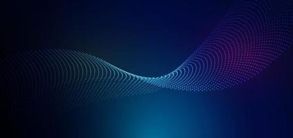 malha de linhas de partículas futuristas abstratas sobre fundo azul com efeito de luz. conceito de tecnologia. vetor