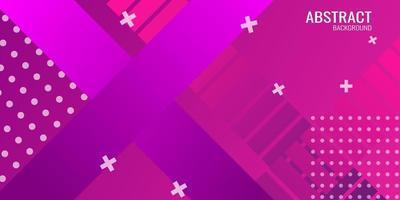 fundo geométrico abstrato em gradiente roxo vetor