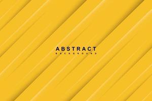 fundo amarelo abstrato com linhas diagonais recortadas vetor