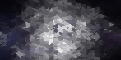 desenho poligonal geométrico de vetor cinza escuro.