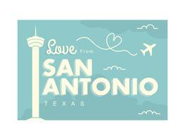 Ilustração do cartão de San Antonio vetor